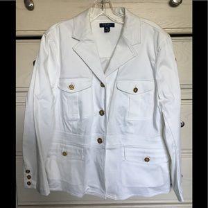Halloween idea: Chaps white blazer jacket